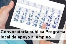 Convocatoria pública apoyo al empleo