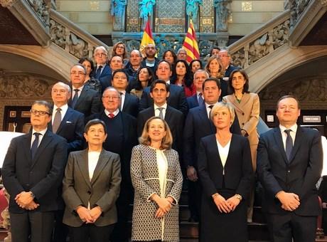 Jose Luis Bonet participa en la reunion sobre la Agenda Digital del Gobierno presidida por la Vicepresidenta para Asuntos Economicos, Nadia Calvino