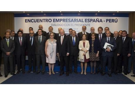 El presidente de Perú destaca proyectos de interés para las empresas españolas