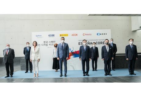 El presidente de Corea participa junto a Pedro Sánchez en el encuentro empresarial sobre Digitalización y Sostenibilidad