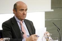 Ministro de Economía y Competitividad durante la rueda de prensa posterior al Consejo de Ministros