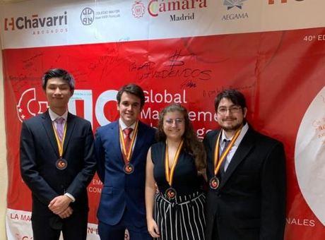 Cuatro estudiantes de Ingeniería Aeroespacial de la Universidad Politécnica de Madrid ganan el Global Management Challenge España 2020